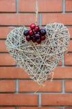 Вишни с сердцем Стоковое Фото