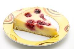 вишни cheesecake Стоковые Изображения RF