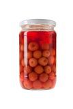 вишни jar замариновано Стоковые Фотографии RF