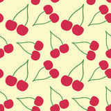 вишня безшовная Стоковое Изображение