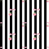 Вишня картины розовая сладостная & холодная Стоковая Фотография RF