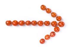 вишня стрелки сделала томаты Стоковая Фотография
