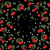 вишня fruits картина безшовная Иллюстрация вектора