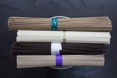 4 вида азиатских лапшей Стоковые Фото