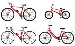 4 вида велосипедов: велосипед горы (или вездеходного), велосипед дороги, велосипед города и bmx велосипед Стоковое Фото