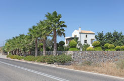 Вилла в Греции, острове Родоса Стоковое Изображение RF
