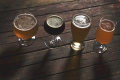 4 вида пива Стоковые Фото