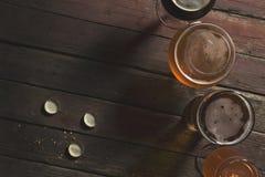 4 вида пива Стоковое фото RF