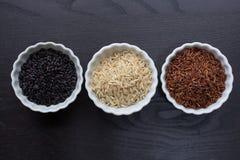 3 вида риса Стоковые Фото