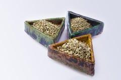 3 вида семян пеньки Стоковое Изображение