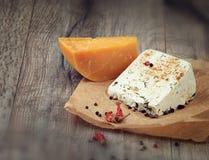 2 вида сыра Стоковое Изображение RF