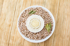 3 вида сырцовых риса и фасолей Стоковое Изображение RF
