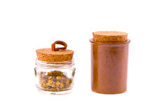 2 вида утвари кухни jar на белизне Стоковое Изображение