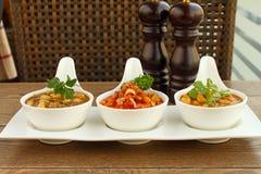3 вида фасолей с овощами Стоковое Фото