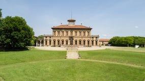 Вилла Bagatti Valsecchi, вилла, вид с воздуха, восемнадцатый век, итальянская вилла, Varedo, Монца Brianza, Ломбардия Италия Стоковые Фотографии RF
