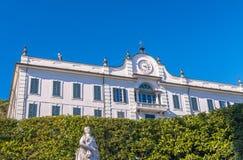 Вилла Carlotta на озере Como - Италии Стоковые Изображения RF