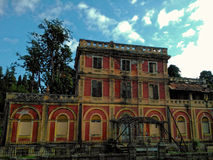 Вилла Rossa историческое здание в Корфу Греции Стоковые Фото