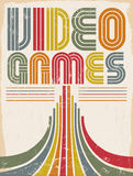 Видеоигры - плакат иллюстрация вектора