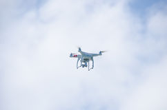 Видеокамера летая контролируемая радио Стоковая Фотография