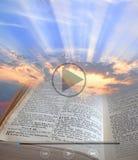 Видеоклип библии светлый стоковая фотография rf