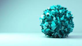 видео анимации творения сферы 3d иллюстрация штока