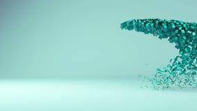 видео анимации творения сферы 3d иллюстрация вектора