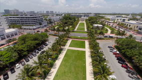 Видео антенны Miami Beach парка Collins сток-видео