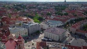 Видео городка Вильнюса старое видеоматериал