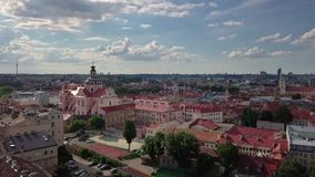 Видео городка Вильнюса старое сток-видео
