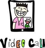 Видео- звонок Стоковые Изображения