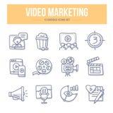 Видео- значки Doodle маркетинга