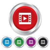 Видео- значок знака. Символ видео- рамки. Стоковые Фото