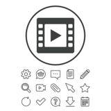 Видео- значок знака Символ видео- рамки Стоковое Изображение RF