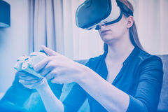 Видео игры игры игры на ТВ или мониторе Концепция Gamer Стоковая Фотография
