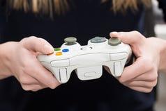 Видео игры игры игры на ТВ или мониторе Концепция Gamer Стоковое Изображение