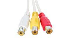 Видео- изолированный кабель соединителей Стоковое фото RF