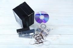 Видео, кассеты музыки Стоковое Фото