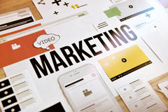 Видео- маркетинг стоковые фото