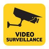 видео наблюдения знака Стоковые Изображения RF