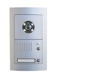 Видео- оборудование внутренной связи на белой предпосылке Стоковые Изображения RF