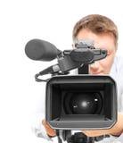Видео- оператор Стоковое Изображение RF