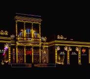 видео- отображение 3D на дворце Wilanow Стоковое Изображение RF