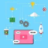 Видео- предпосылка отношения маркетинговой стратегии Стоковое Изображение