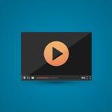 Видео-плейер для сети Стоковое Изображение RF