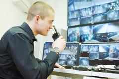 Видео- система безопасности наблюдения контроля Стоковая Фотография