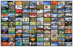 Видео- стена экрана ТВ Стоковые Фотографии RF