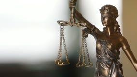 Видео- съемка дамы Правосудия Статуи