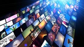 Видео- течь средств массовой информации стены (HD) иллюстрация штока
