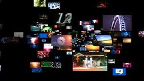 Видео- течь средств массовой информации стены (HD) бесплатная иллюстрация