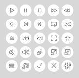 Видео-/тональнозвуковые кнопки игрока иллюстрация штока